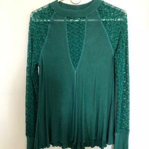Free People lace long sleeve